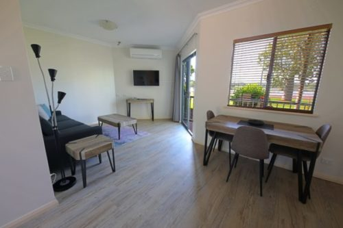 one bedroom apartment - lounge and dining room